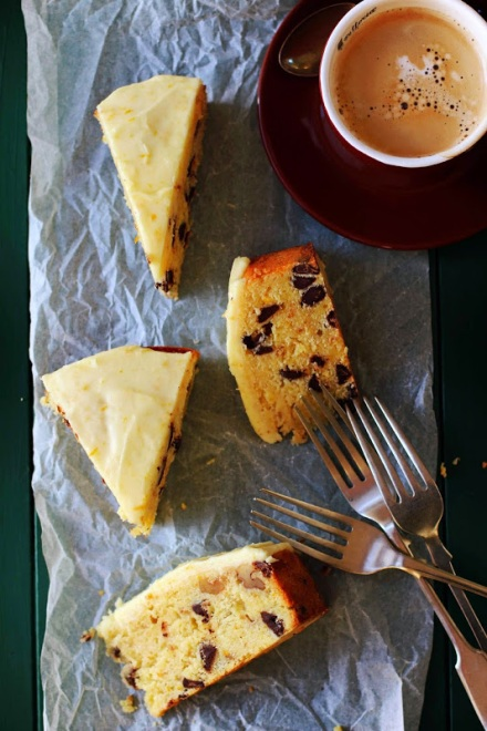 Orange and Walnut Cake with Dark Chocolate Chips 9