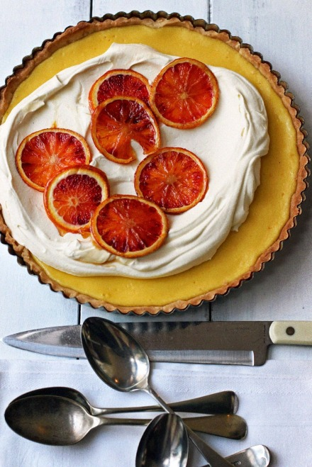 Blood Orange and Ricotta Tart 7