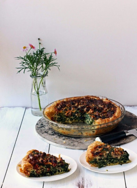 Spinach Chorizo and Walnut Pie - aka Monday Pie 8